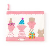 <アップリケ>AIUEO APPLIQUE play with FLAT POUCH AQWF-01 party