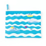 <アップリケ>AIUEO APPLIQUE play with FLAT POUCH AQWF-02 mermaid