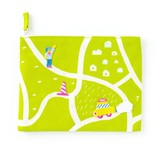 <アップリケ>AIUEO APPLIQUE play with FLAT POUCH AQWF-04 taxi