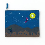 <アップリケ>AIUEO APPLIQUE play with FLAT POUCH AQWF-05 magic night