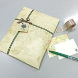 Map Paper Bag Retro Map