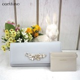 Period Spring Color Adult Commuter Pass Holder Attached Bijou Long Wallet caritino