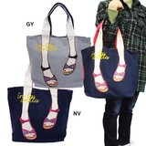mis zapatos Tote Bag Ethnic Sandal Gray Navy