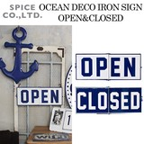 ■2017SS 新作■ OCEAN DECO IRON SIGN OPEN&CLOSED
