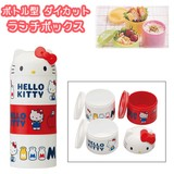 SKATER Die Cut Bottle Lunch Box To Drink One touch Bottle Hello Kitty