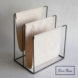 Iron Frame Magazine Rack