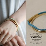 Suede Pipe Double Bangle Semi-formal Bracelet
