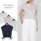 S/S Blow Cropped Shirt