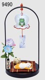 Ornament Interior Table-top Wind Chime Set Flog
