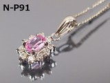 Local Natural stone Random Rose Sapphire Necklace Chain Sell Separately