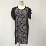 Chiffon Lace Short Sleeve Tunic