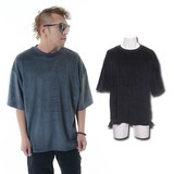 Velour T-shirt Short Sleeve Men's