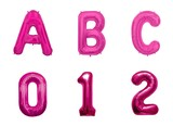 Letter Balloon Magenta Alphabet Number American Miscellaneous goods Balloon Party