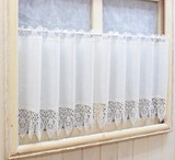 Effect Lace Cafe Curtain UV Cut Pollen Catch