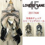 2017 A/W Dyeing Checkered Shearing Stole