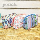Pouch Make Up Pouch Cosme Pouch Storage Flamingo Ortega Africa Ethnic Accessory Case