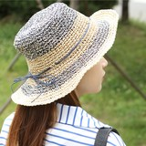 S/S Ribbon Design Paper Hat Straw Hat