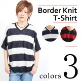 Mosaic Border Dolman Half Length V-neck T-shirt