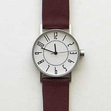 eki watch white /band :brown / Igarashi Takenobu