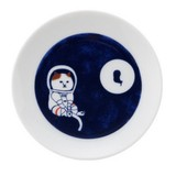 Cat Original Plate The Moon Viewing