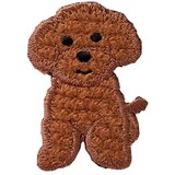 Toy Poodle Iron-on Embroidery Patch / for sewing, needlework and craft lovers!