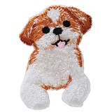 Shih Tzu Iron-on Embroidery Patch / for sewing, needlework and craft lovers