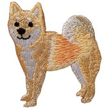 Shiba-inu Iron-on Embroidery Patch / for sewing, needlework and craft lovers