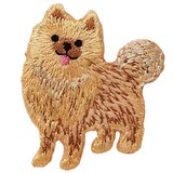 Pomeranian Iron-on Embroidery Patch / for sewing, needlework and craft lovers