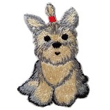 Yorkie Iron-on Embroidery Patch / for sewing, needlework and craft lovers