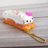 Special Deals!【SQUISHY】Hello Kitty éclair/Ball Chain Mascot [Offer valid while supplies last]