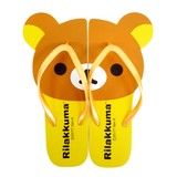Summer Items!【Rilakkuma】[Flip Flops/Sandals]Die-cutting Beach Slippers 25cm リラックマ サンダル