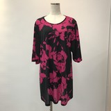 Flower Pocket Stretch Big Tunic