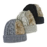 A/W Fur Knitted Watch Cap Young Hats & Cap