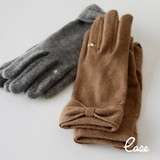 A/W Glove Glove Jersey Knitted Ribbon