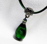 Type Glass Pendant Necklace