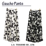 2017 A/W Stocks Gaucho Pants Ethnic Hibiscus