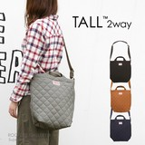 Tote Bag Tall 2Way Cotton Kilting