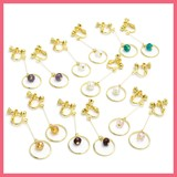 Circle Frame Beads Earring
