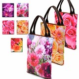 Floral Pattern Tote Bag Colorful Flower
