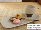 Wood Grain Dish Mino Ware