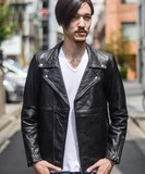 TARF A/W Recycling Leather Double Motorcycle Leather Jacket