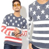 2017 A/W Men's Processing Stars And Stripes Jacquard Knitted