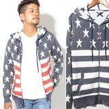 2017 A/W Men's Processing Stars And Stripes Jacquard Knitted Hoody