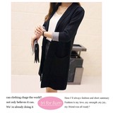Puffy Knitted Material Long Jacket