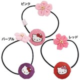 Hello Kitty Sakura Hair Elastic Pink Red Purple