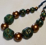 Natural Material Ethnic Wood Beads Design Necklace