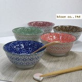 SOMETSUKE Hemp Heavy Use Donburi Bowl 5 Colors Set Mino Ware