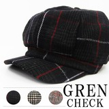 A/W Wool Checkered Casquette
