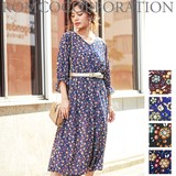 Antique Flower Candy Robe One-piece Dress