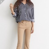 Blouse Basic Stripe Blouse